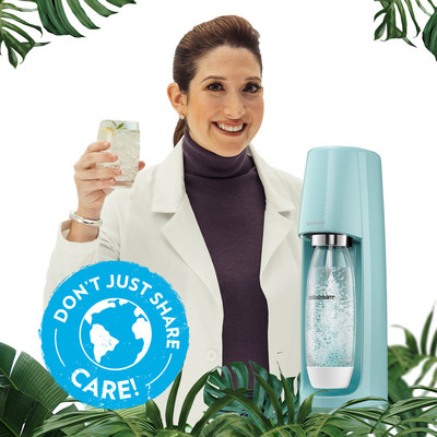 "This Earth Day SodaStream is teaming up with Randi Zuckerberg to announce their newest sustainability goals through an environmental campaign, ""Don't Just Share, Care."""