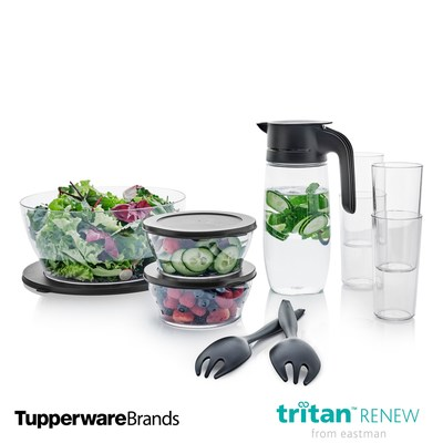 """""""I'm honored today to expand our ECO+ line with new product introductions and our new partnership with Eastman's Tritan™ Renew, which allows us to use recycled material in our more transparent designs. I know together, we'll work to reshape what is possible in regard to recycled material,"""" said Bill Wright, Tupperware Brands executive vice president, Product Innovation."""