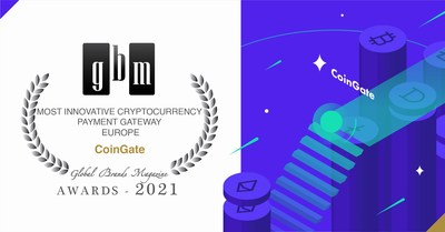 CoinGate announced as the Most Innovative Cryptocurrency Gateway in Europe 2021