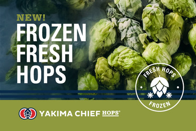 Yakima Chief Hops, proveedor global de lúpulo, lanzó un nuevo producto innovador, lúpulos frescos congelados, que les permite enviar lúpulo recién cosechado a una mayor cantidad de productores de cerveza de todo el mundo para crear nueva cerveza de lúpulo fresco para la comunidad de la cerveza artesanal. (PRNewsfoto/Yakima Chief Hops)